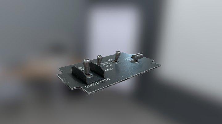 F/A18c Lot 20 - FUEL Panel 3D Model