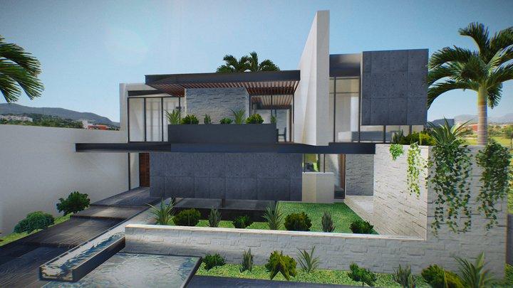 Modern House 1 3D Model