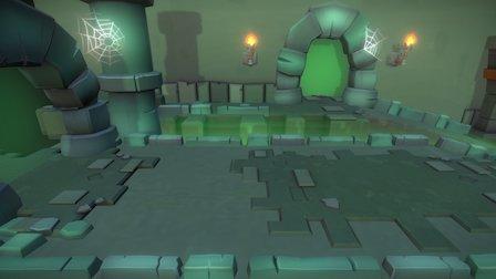 Evercraft Level Design - Cave of Secrets 2 3D Model