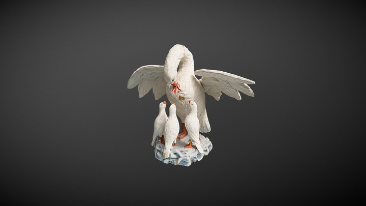 Pelican figure, Kivi Vigala church 3D Model