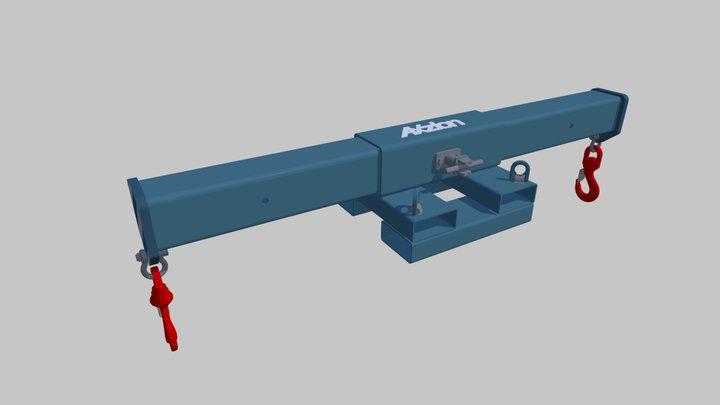 Axzion hook beam - Hakentraverse 3D Model