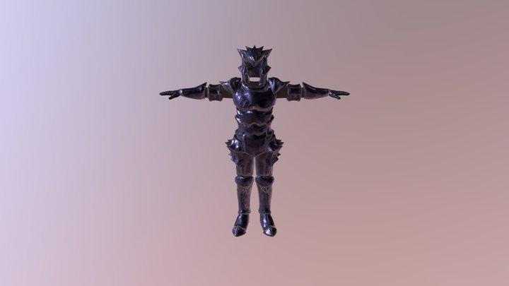 Male Obsidian Armor 3D Model