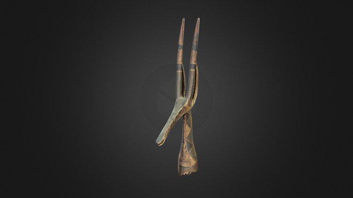 Masque Antilope Adone masculin (236) 3D Model