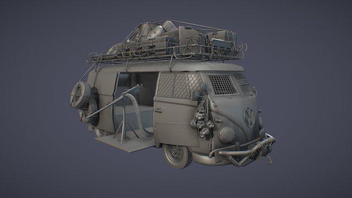 Wasteland/Survivor Van 3D Model