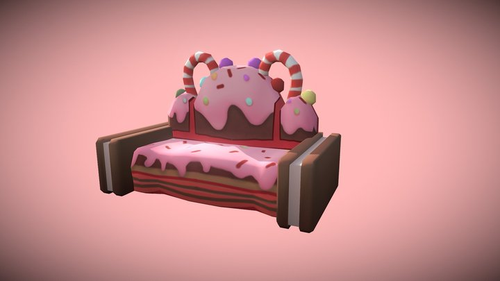 Proptober Day 1 - Candy Couch 3D Model