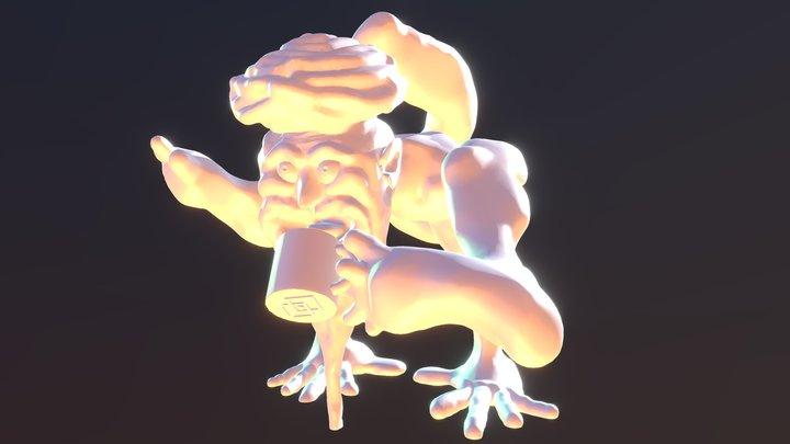 Coffee Yogi 3D Model
