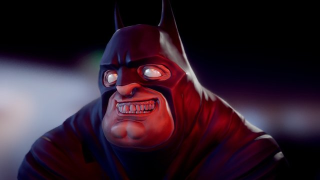 Mad Fat Bat (animated) 3D Model