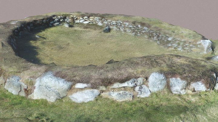 Anglesey hut circle 3D Model