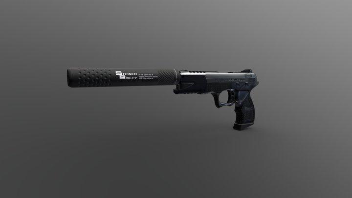 Suppressed Handgun (Deus Ex HR) 3D Model