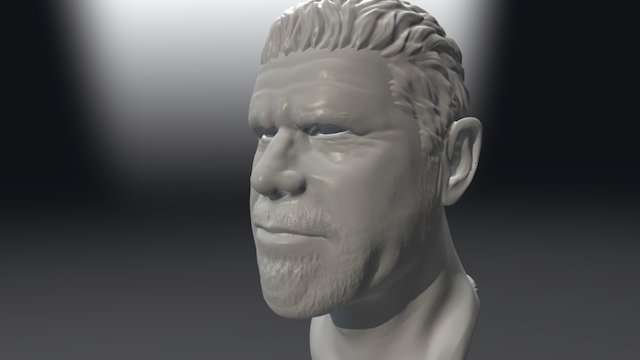 Ron Perlman Bust 3D Model