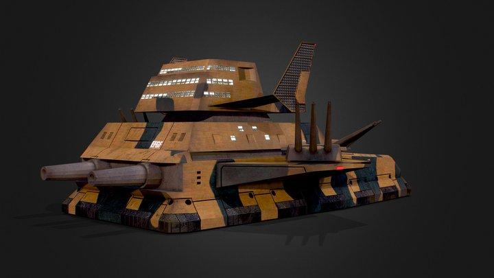 EFF Land Battleship Big Tray 3D Model