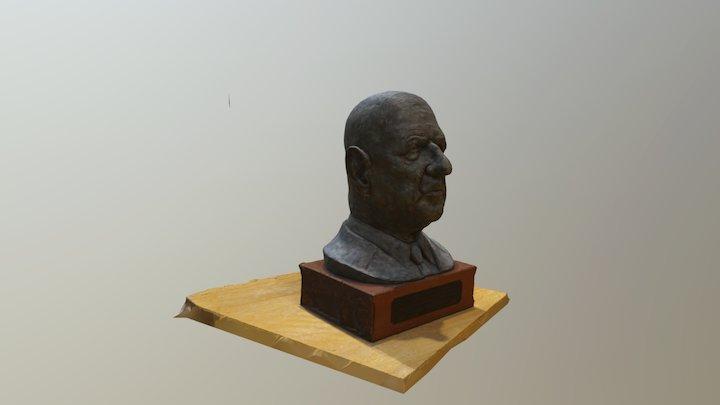 Buste Charles De Gaulles 3D Model