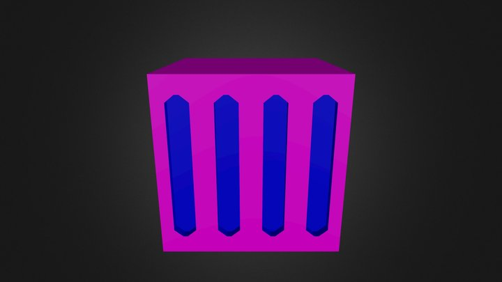 Crate Metal Flat Ends 3D Model