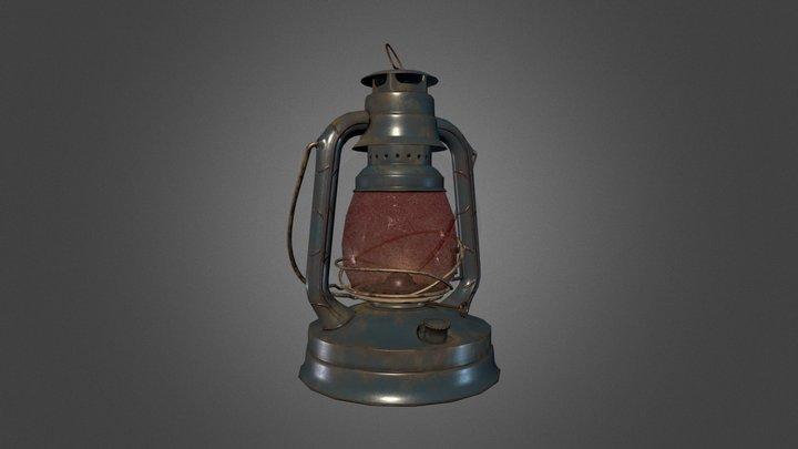 Vintage Railroad Lantern 3D Model