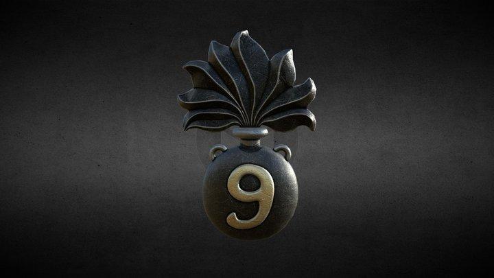 Symbol of the 9th RAM 3D Model