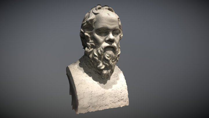 Socrates Bust (raw photogrammetry) 3D Model