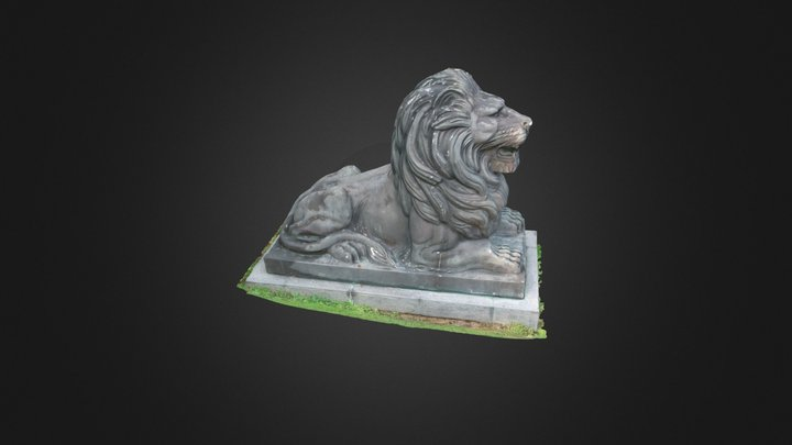 Fort Canning lion 3D Model