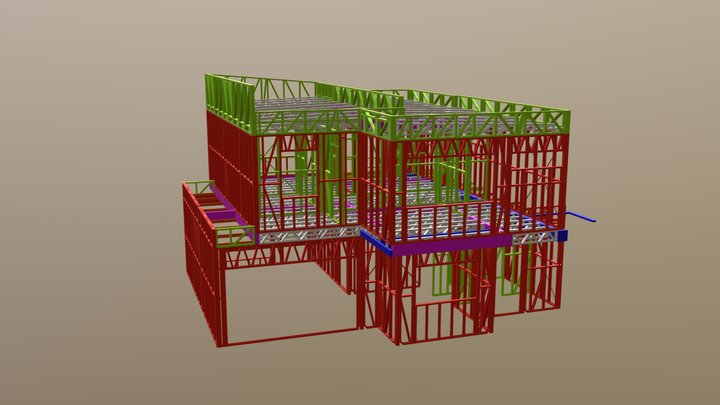 Unit5/ 5units 3d Frame walkthrough 3D Model