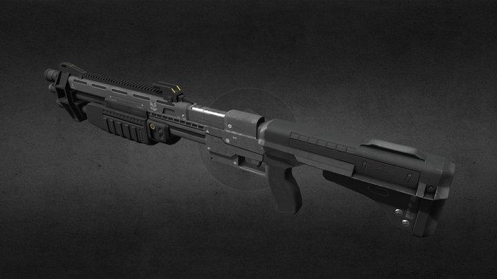 Halo CE anniversary: shotgun 3D Model