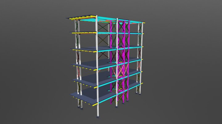 Job N29 6 Storey Steel Structure 3D Model