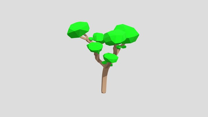 Low Poly Tree - Summer 3D Model