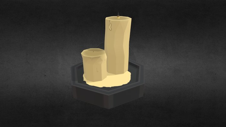 Low-Poly Candles (Spooky Model Series, 2/6) 3D Model