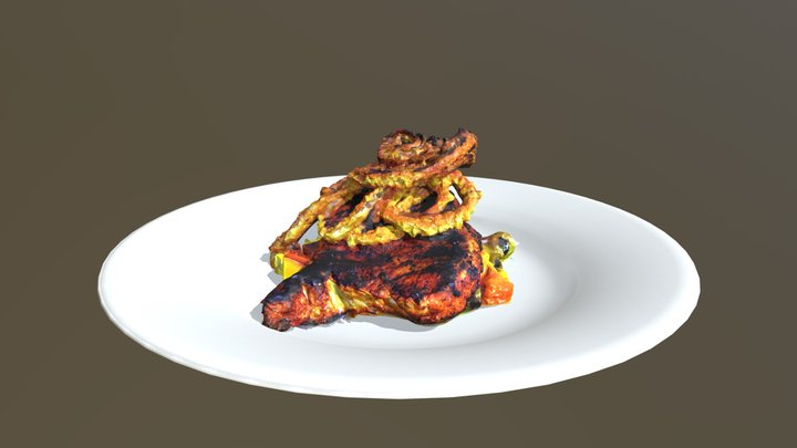 Food Plate Scan Cleanup 3D Model
