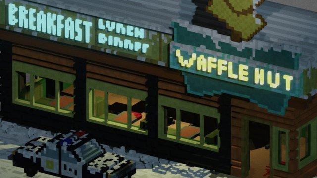 Waffle Hut 3D Model