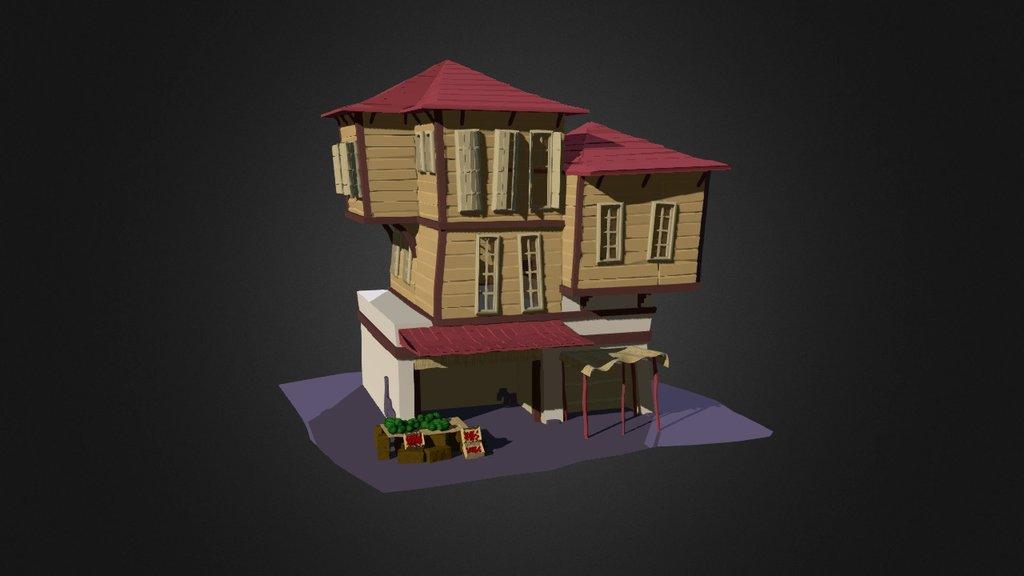 Cartoon House 2 Download Free 3d Model By Mmtdz