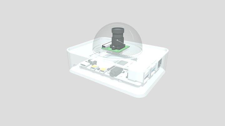 Rasberry Pi Camera Enclosure (SkyCam) 3D Model