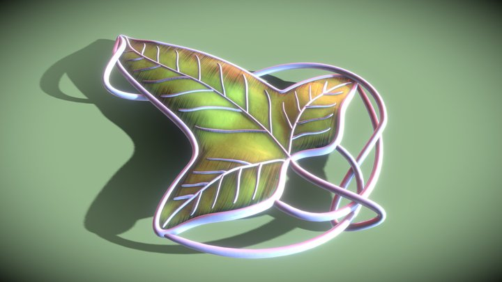 Leaf of Lorien (Lord of the Rings) 3D Model