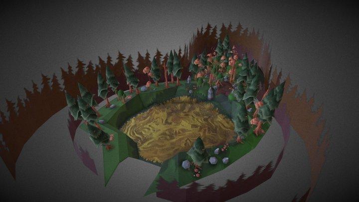 Modeling Final Level Project - WIP 3D Model