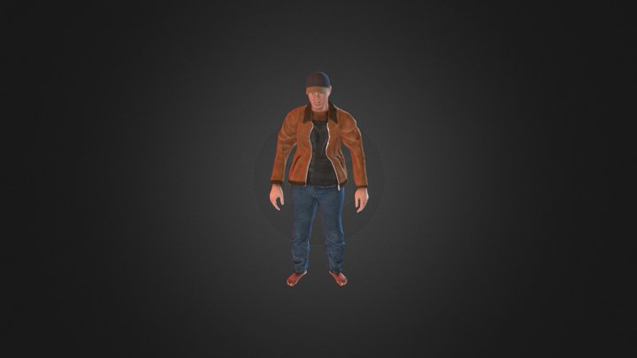 Male Character with Animation 3D Model
