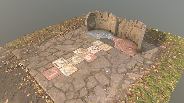 "Spielplastik ""Tempelhupfspiel"" 3D Model"