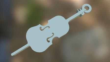 Cello Key-Holder / ready to print 3D Model
