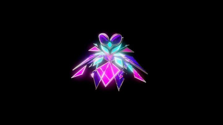 Neon Hologram 3D Model