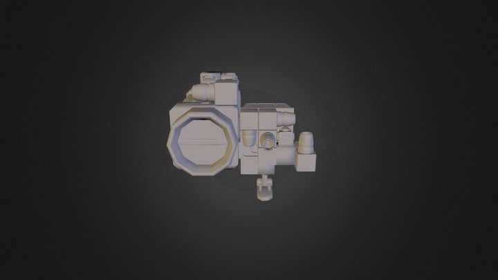 Space enginners  small ship 3D Model