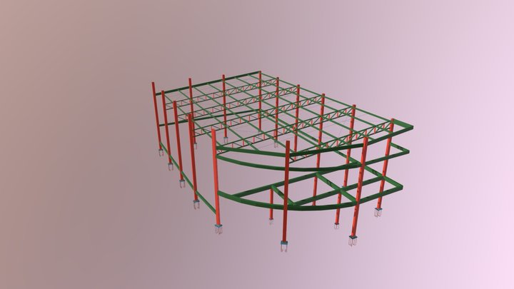 Estrutura 3D MVN Chapadão Do Céu 3D Model