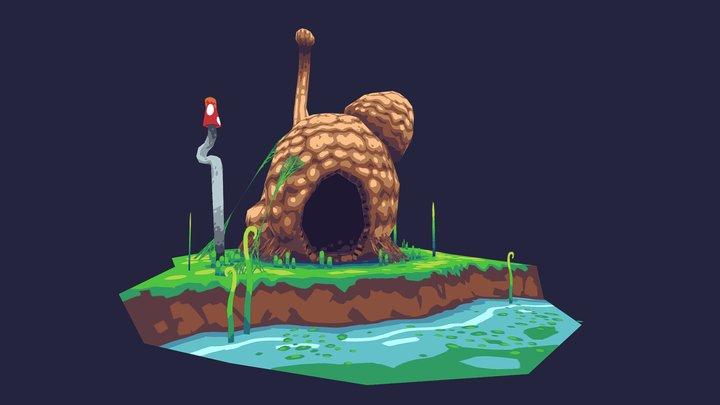 Mooshroom house 3D Model