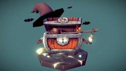 Halloween Treasure Chest 3D Model