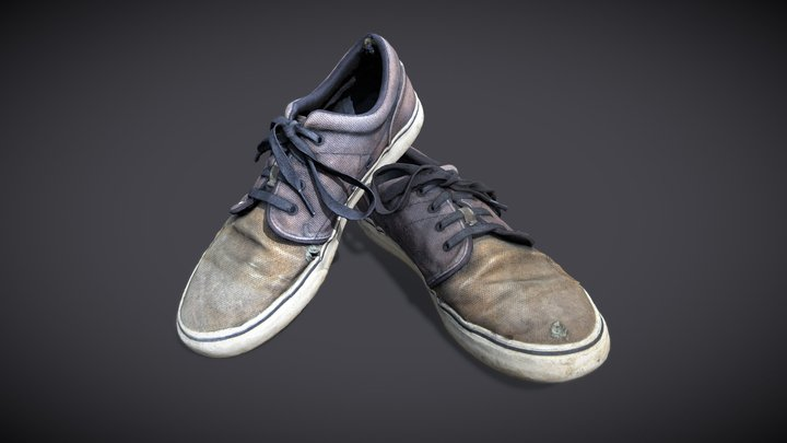 Worn-out shoes 3D Model