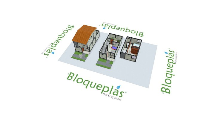 Vivienda social Bloqueplas B - Social Housing B 3D Model
