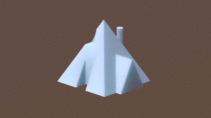 V.E.P. I: Pyramidal Guest Base 3D Model