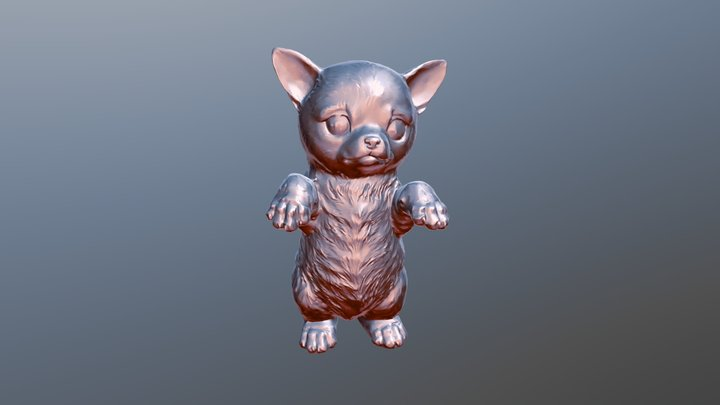 Chihuahuabeeldje Reduced 100K 3D Model