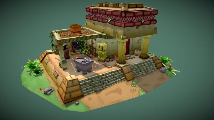 Mayan Blacksmith 3D Model