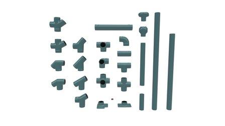 Modular Handrail Steel 3D Model