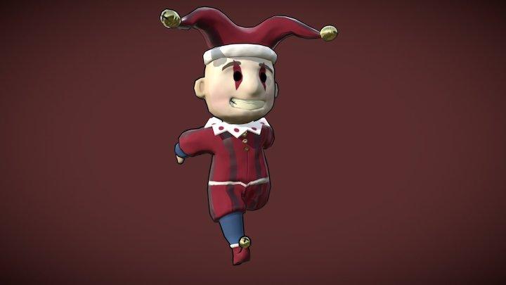 Jester Character Run 3D Model