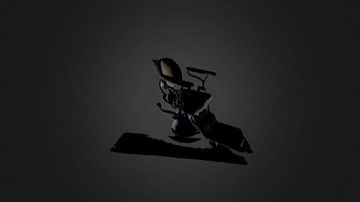 Turn-of-the-century dentist chair 3D Model