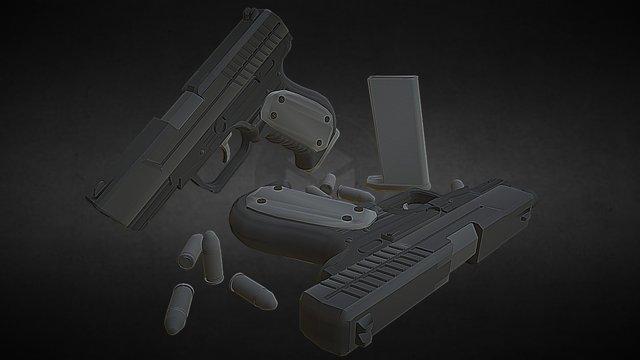 HandGun 3D Model