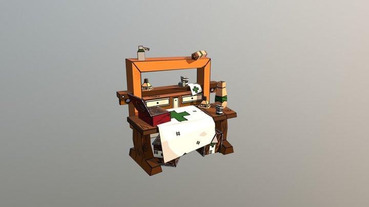 Doctors Table 3D Model
